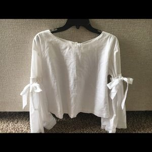 Free People white cotton shirt Sz M